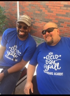 Mr. Juan & Mr. Hamilton Chilling on Field Day