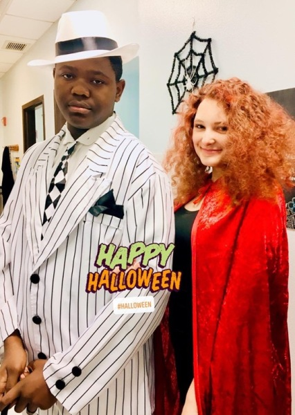 Trevor & Lily at Halloween